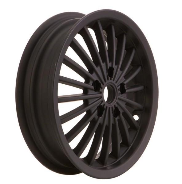 Cerchione anteriore/posteriore per Vespa GTS/GTS Super/GTV/GT 60/GT/GT L 125-300ccm, nero opaco