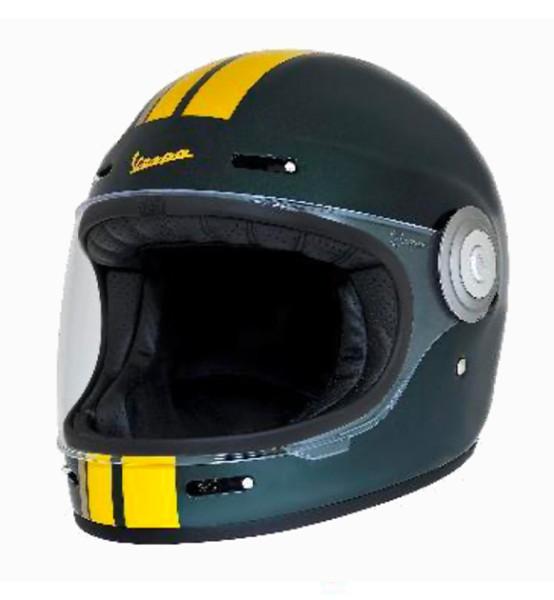 Casco integrale Vespa VJ Racing anni '60 verde / giallo - Sixties
