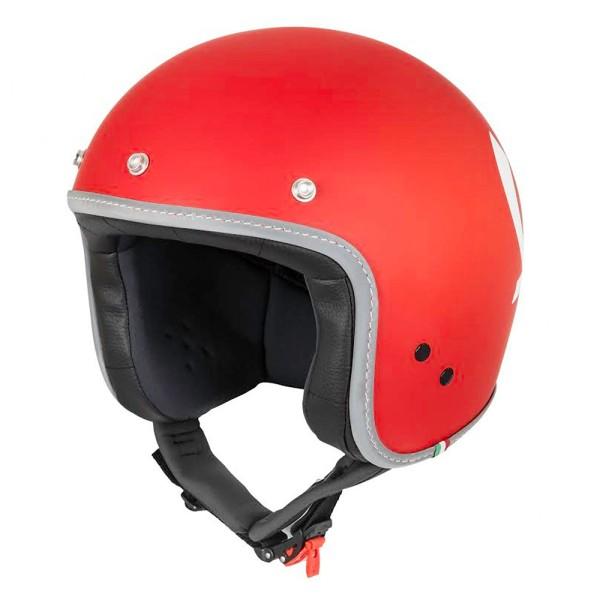 Vespa Casco Color Jet rosso