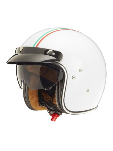 Shiro Casco Jet, SH235 GT, Italy Flag, bianco