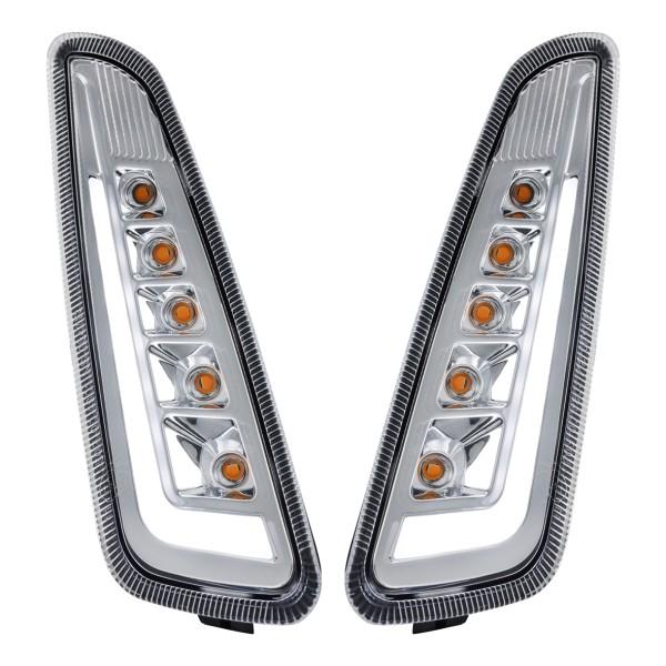 Kit frecce anteriore sinistra / destra a LED trasparente per Vespa Primavera / Sprint 125-150ccm SIP Style