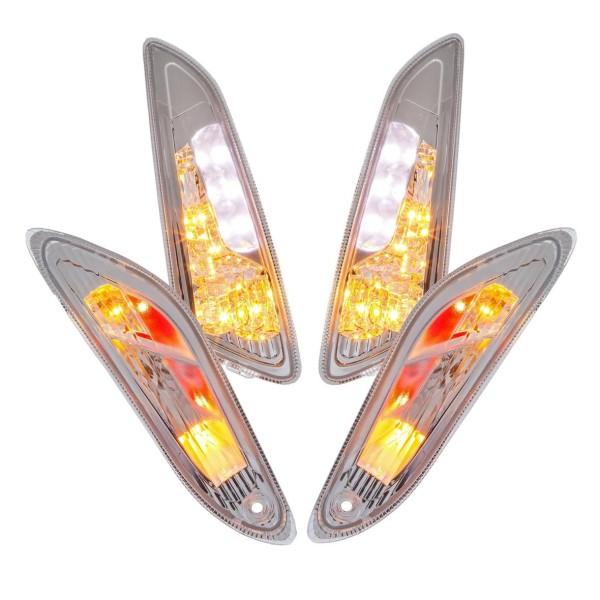Kit indicatori di direzione a LED trasparente per Vespa Primavera / Sprint 50ccm 2T / 4T