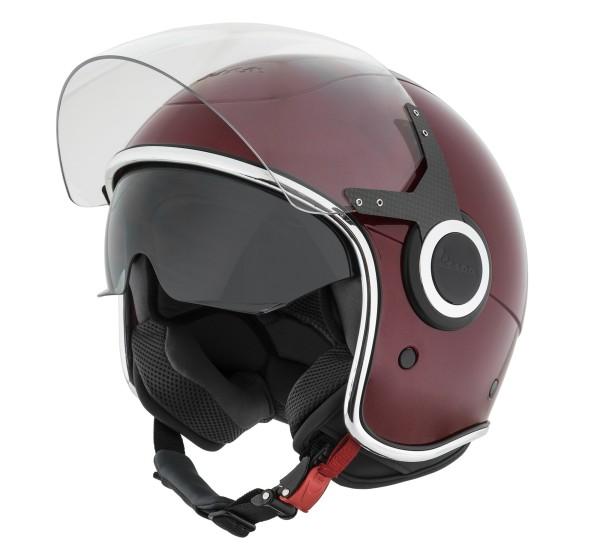 Vespa casco VJ rosso vignola