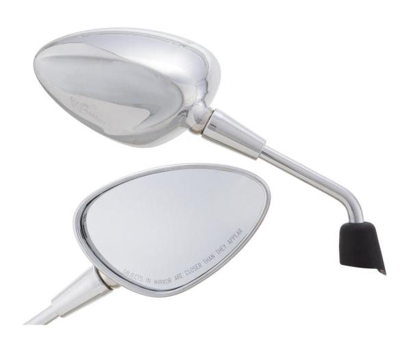 Specchio Shorty argento destro e sinistro per Vespa Sprint 50-150ccm 2T / 4T