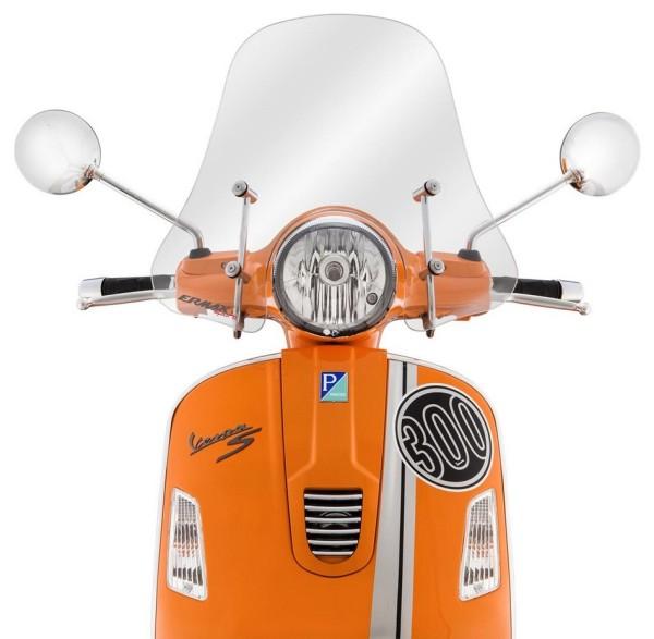 Parabrezza Sportivo per Vespa GTS/GTS Super/GT/GT L 125-300ccm, semialto, chiaro