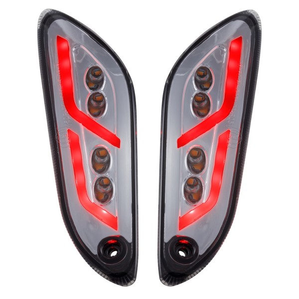 Kit frecce posteriori sinistra / destra a LED colorate per Vespa Primavera / Sprint 50-150ccm SIP Style