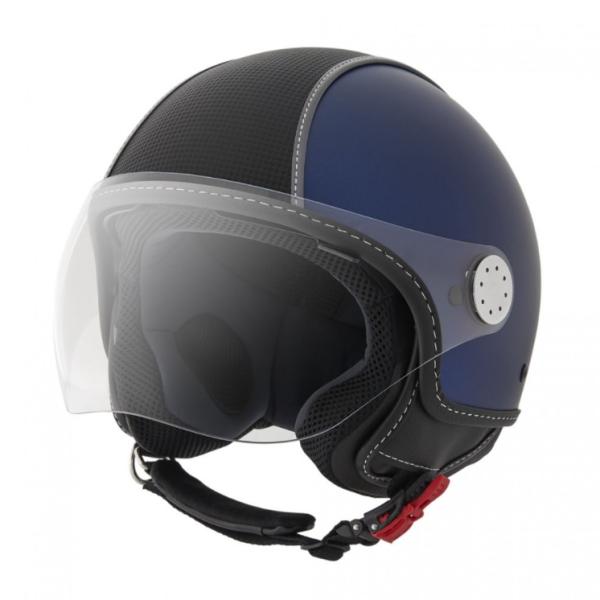 Piaggio casco Demi Jet , Carbonskin, blu