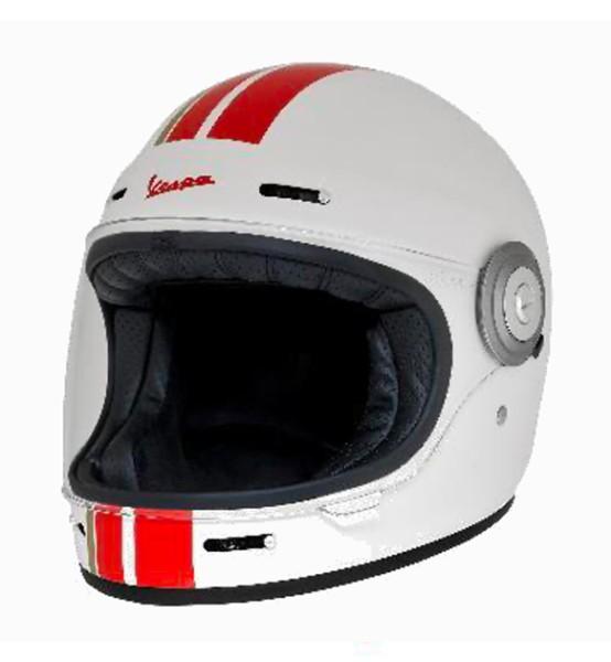 Casco integrale Vespa Racing Sixties anni '60 rosso / bianco