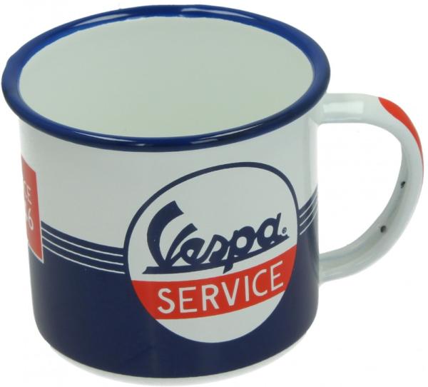 Vespa tazza smaltata Vespa Service