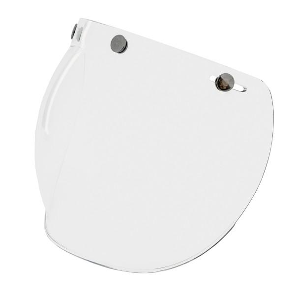 Visiera a bolle (trasparente) con bottoni automatici per caschi Vespa Jet