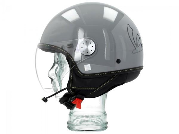 Vespa casco jet Visor Bluetooth 3.0 grigio