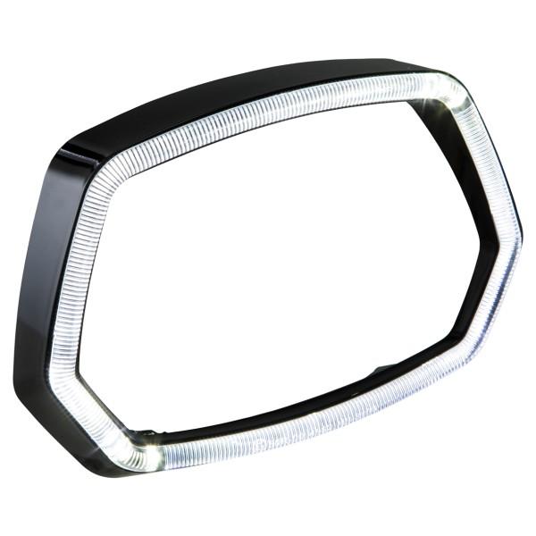 Vespa Sprint 125 / 150ccm 4T ('13 -'18) Anello lampada anello luce LED nero lucido