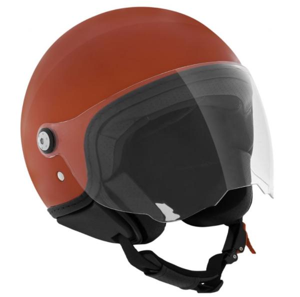 Piaggio P-Style Jet casco rosso 854/A