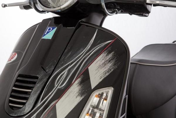 Bordo scudo sinistro e destro per Vespa GTS/GTS Super/GTV/GT 60/GT/GT L 125-300ccm (- '19), nero opaco