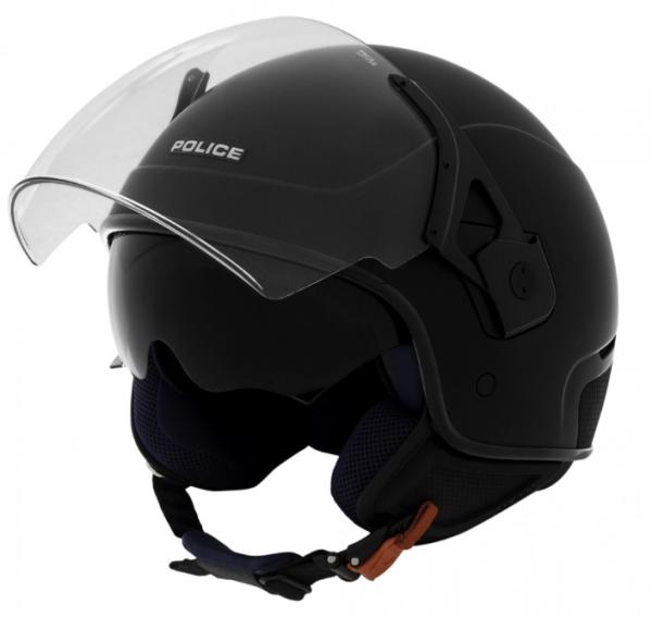 Piaggio casco Jet, Police, nero, opaco