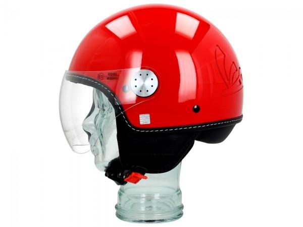 Vespa Casco Jet Visor 3.0 rosso passione