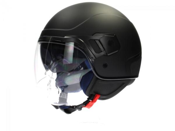 Piaggio casco PJ Jet nero, opaco