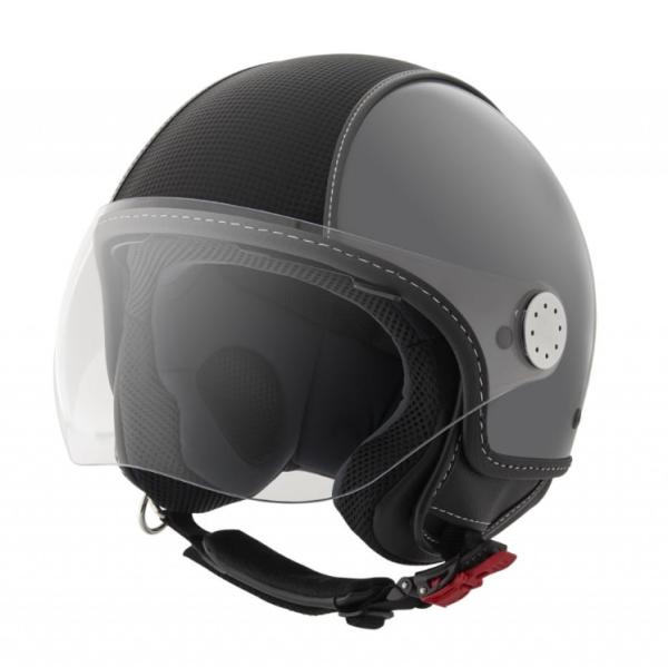 Piaggio casco Demi Jet , Carbonskin, grigio