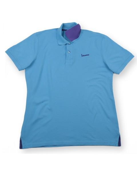 "Vespa Polo ""Vespa Logo"" uomo azzuro"