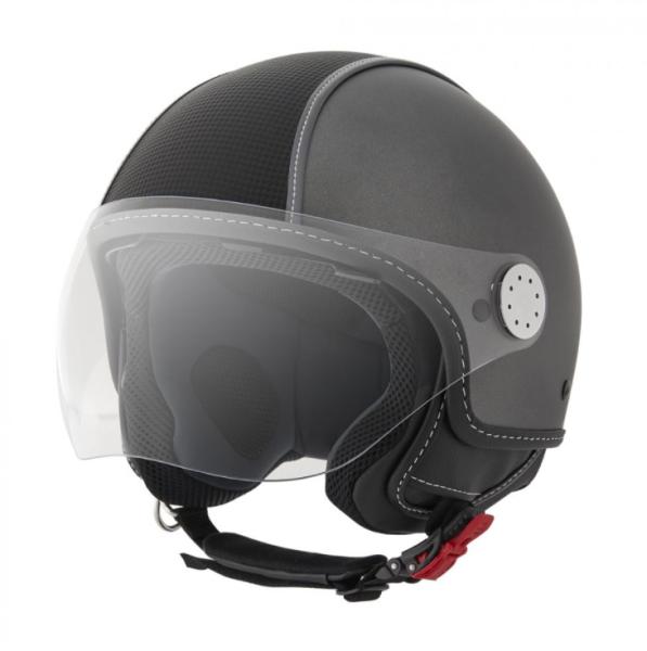 Piaggio casco Demi Jet , Carbonskin, grigio, opaco
