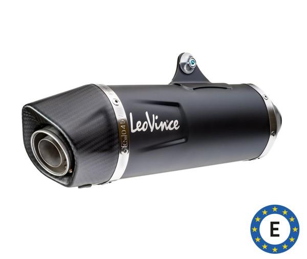 Impianto di scarico LeoVince Nero, inox, nero, impianto completo, per Vespa 300 GTS Euro 5