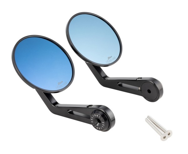 Specchietto finale del manubrio ZELIONI, nero anodizzato, destra e sinistra