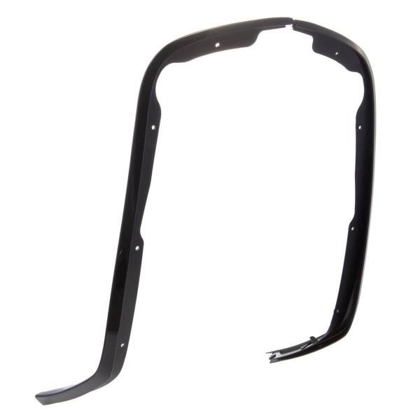 Scudo gamba a tubo singolo nero lucido per Vespa Primavera / Sprint 50-150ccm
