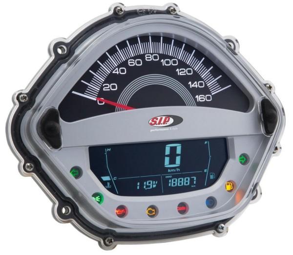 Contagiri/Contachilometri per Vespa GTS/GTS Super/GTS SuperSport, i.e., 125-300ccm (-'14), argento