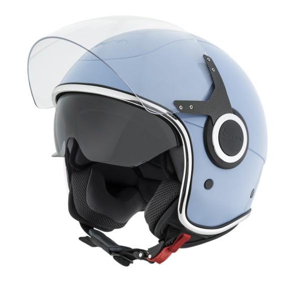 Vespa casco VJ azzurro incato - 70 anni di edizione