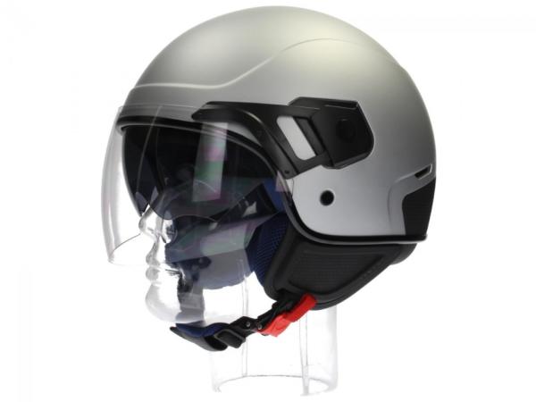 Piaggio casco PJ Jet grigio, opaco