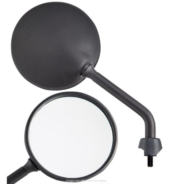 Specchio Shorty per Vespa, nero opaco, destro e sinistro
