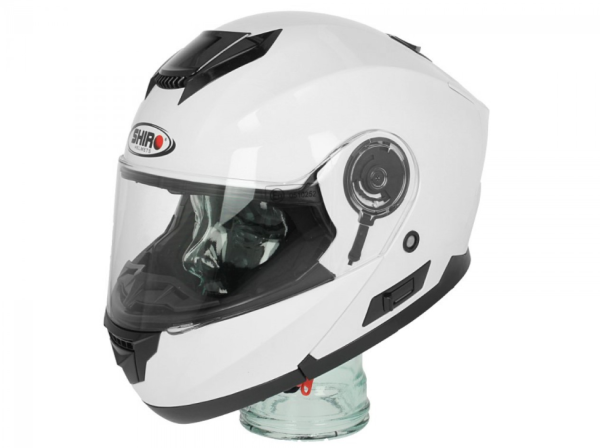 Shiro Casco Flip Up , SH507, bianco