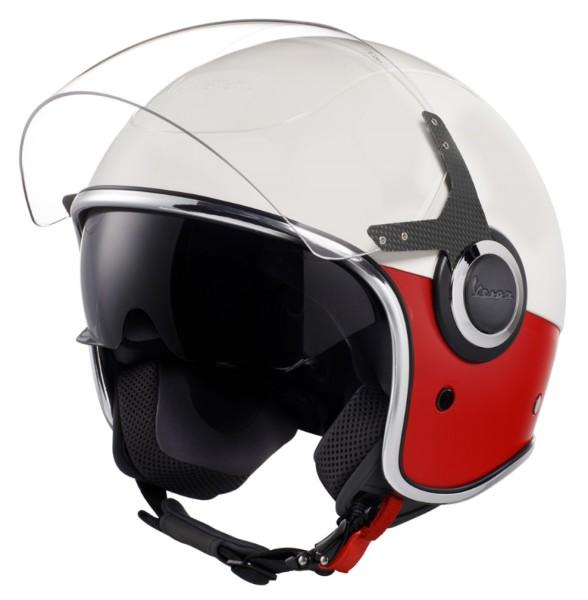 Casco Vespa VJ bianco rosso