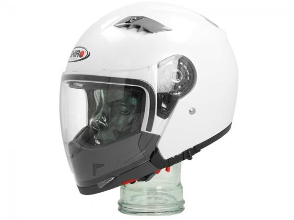Shiro Casco Integrale Convertibile, SH414, System, bianco