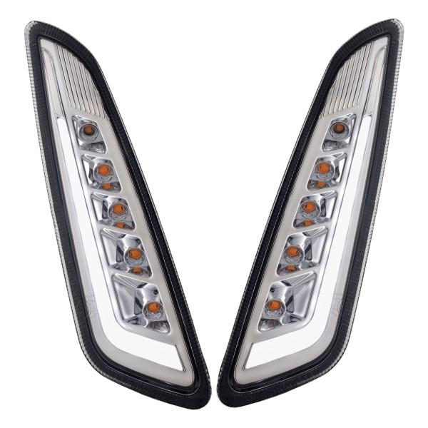 Kit frecce anteriore sinistra / destra a LED colorate per Vespa Primavera / Sprint 125-150ccm SIP Style