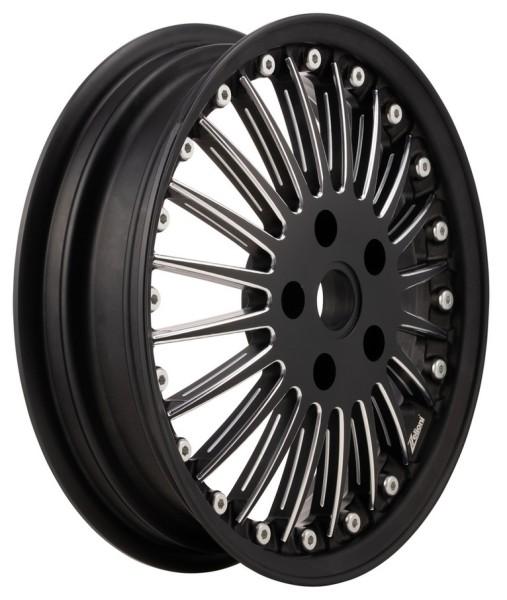 Cerchione Sport Classic anteriore/posteriore per Vespa GTS/GTS Super/GTV/GT 60/GT/GT L/946 125-300ccm, nero opaco