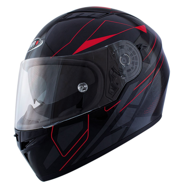 Shiro Casco Integrale, SH600, Elite, nero opaco/rosso