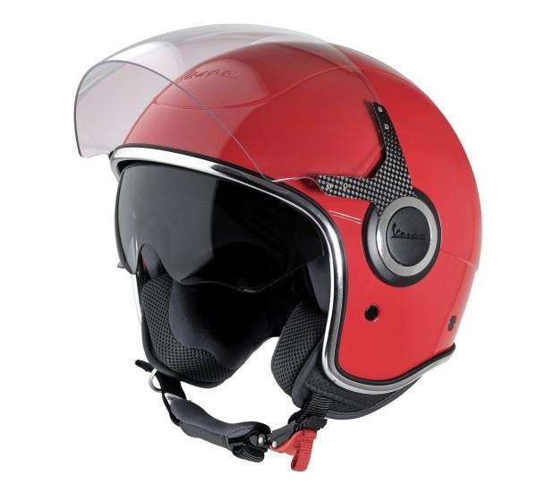 Vespa casco VJ rosso