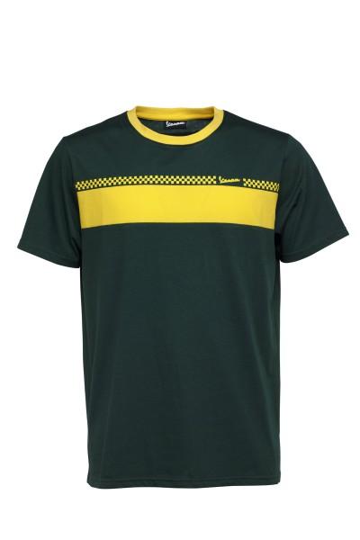 T-Shirt Vespa Racing Sixties anni '60 verde / giallo