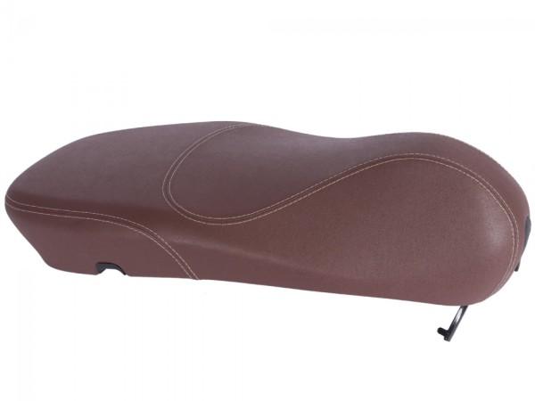 Originale Vespa sedile per Vespa Primavera marrone con cuciture bianche