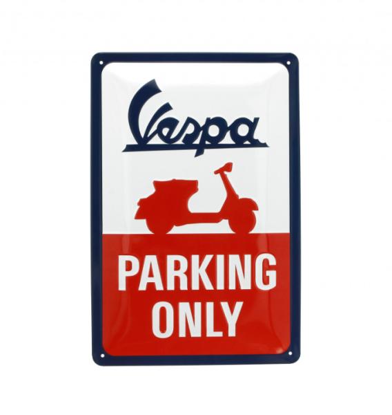 Vespa piastra metallica Vespa parking only