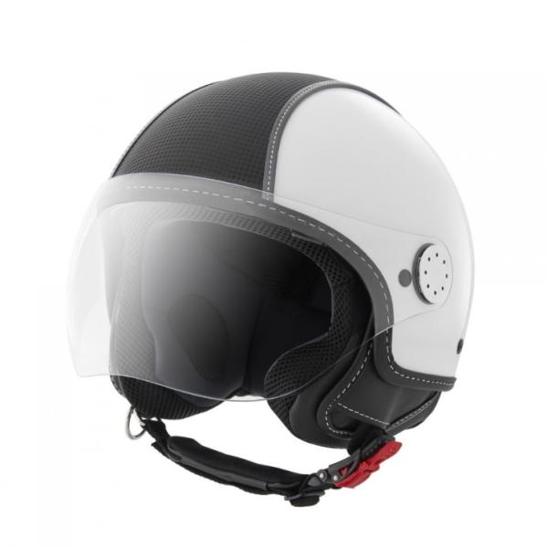 Piaggio casco Demi Jet , Carbonskin, bianco