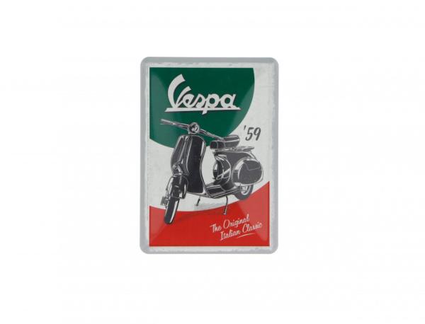 Vespa cartolina di latta The Italian Classic