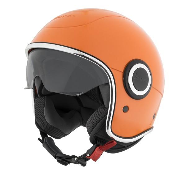 Vespa casco VJ1 orange tramonto