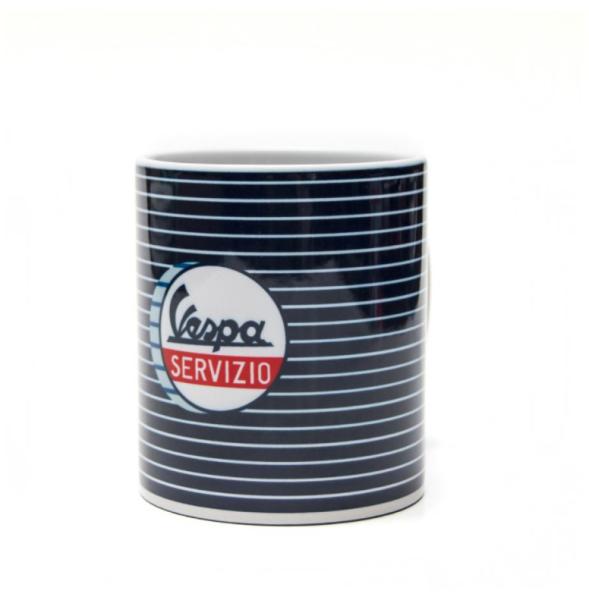 Vespa tazza Servizio blu bianco