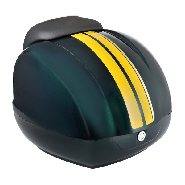 Strisce decorative (gialle) per bauletto Vespa GTS Racing Sixties verde, verde metallizzato 349 / A, 37 l