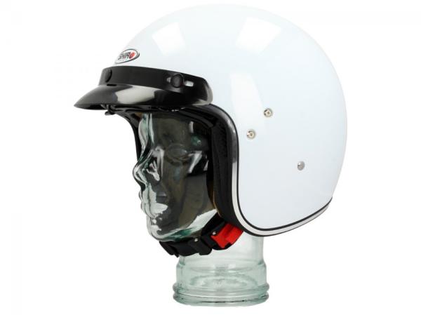 Shiro Casco Jet , SH235, Mono, bianco