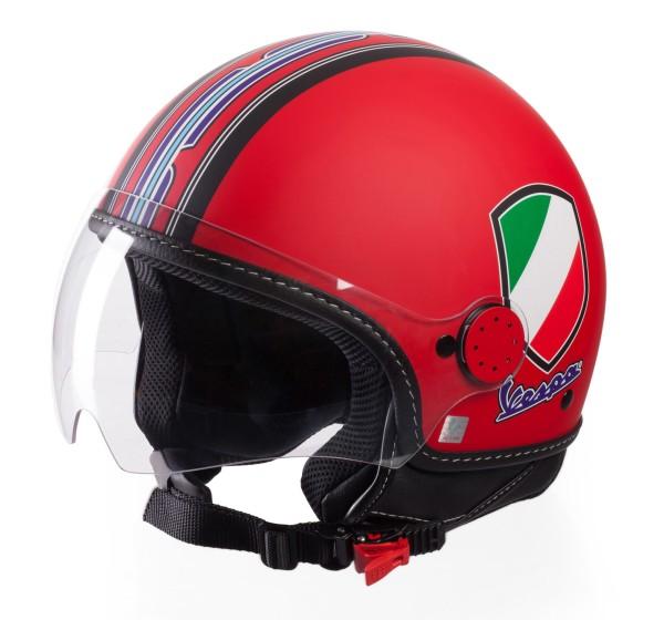 Vespa Casco Jet V-Stripes, rosso