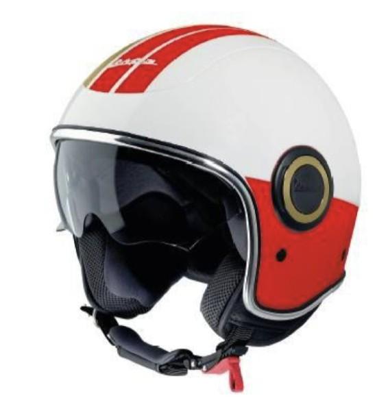 Casco integrale Vespa VJ Racing anni '60 bianco / rosso - Sixties