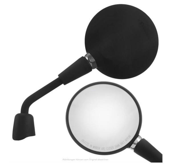 Specchio Shorty nero opaco destro e sinistro per Vespa Primavera 50-150ccm 2T/4T / GTS HPE 50-300ccm